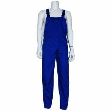 Carnaval kleding blauwe tuinbroek voor volwassenen