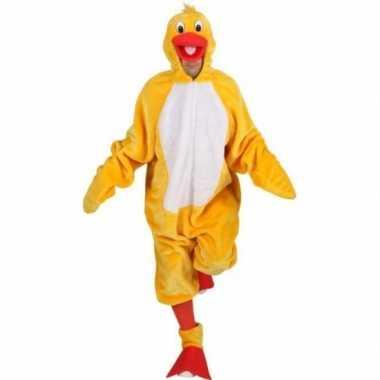 Carnaval kleding gele vogel dierenpak