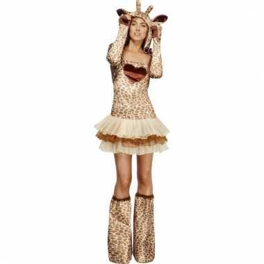 Carnaval kleding girafje voor dames