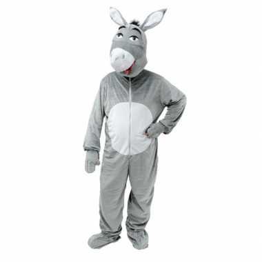 Carnaval kleding grijze ezel