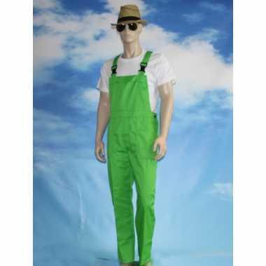 Carnaval kleding groene tuinbroek voor volwassenen