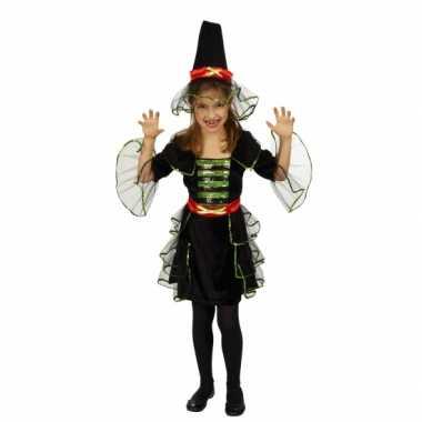 Carnaval kleding heksenjurk voor meiden