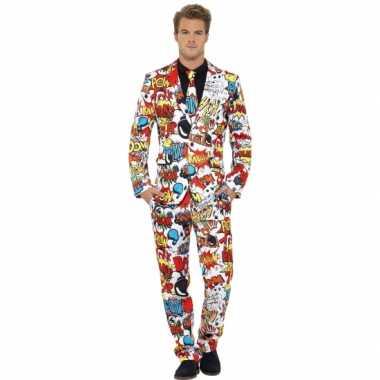 Carnaval kleding heren kostuum comic strip