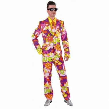Carnaval kleding heren kostuum flower love