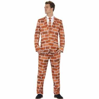 Carnaval kleding heren kostuum stenen muur