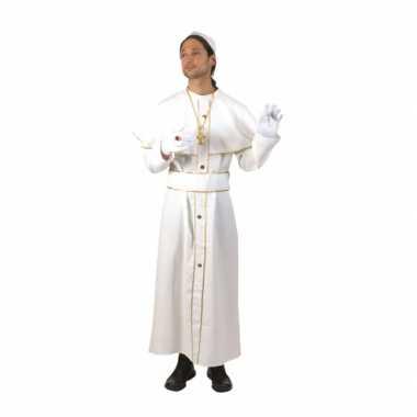 Carnaval kleding paus kostuum wit