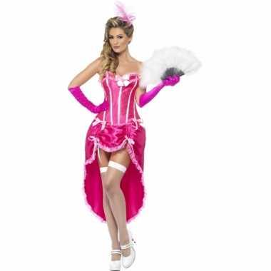 Carnaval kleding roze burlesque jurken