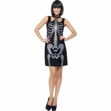 Carnaval kleding skelet jurkje