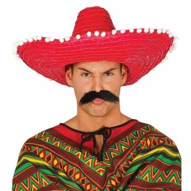 Carnaval kleding sombrero rood