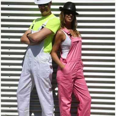 Onwijs Carnaval kleding witte tuinbroek voor volwassenen | Carnaval ME-13