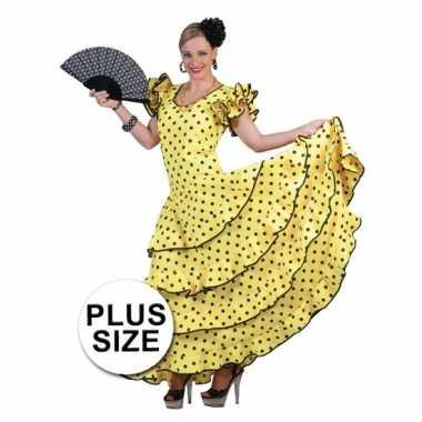 Grote Kleding.Grote Maat Carnaval Kleding Geel Flamencojurk Carnaval Kleding