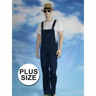 Grote maten navy tuinbroek carnaval kleding voor volwassenen