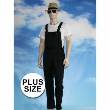 Grote maten zwarte tuinbroek carnaval kleding voor volwassenen