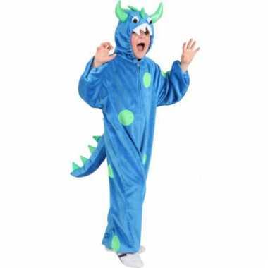 Kinder carnaval kleding blauw monster