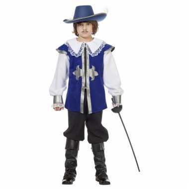 Musketier carnaval kleding blauw