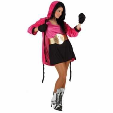 Roze boks carnaval kleding