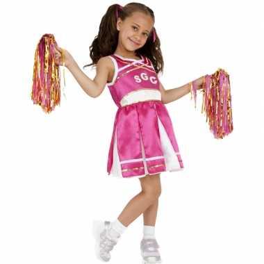 Roze cheerleader carnaval kleding