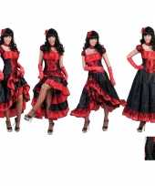 Carnaval kleding cancan damesjurk