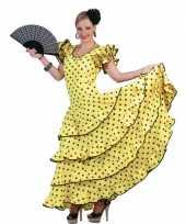 Carnaval kleding geel flamencojurkje