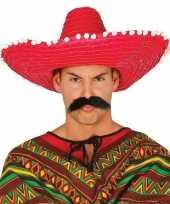 Carnaval kleding sombrero rood 10148184