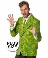 Grote maten carnaval kleding heren kostuum gras